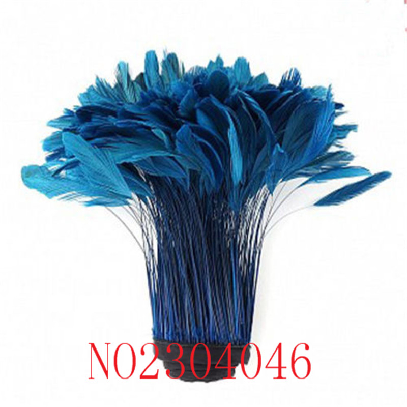 1 yard of beautiful tail hair tail tail 6-8 inches (15-20CM) dye lake blue cloth edge, an average of about 400-500 or so