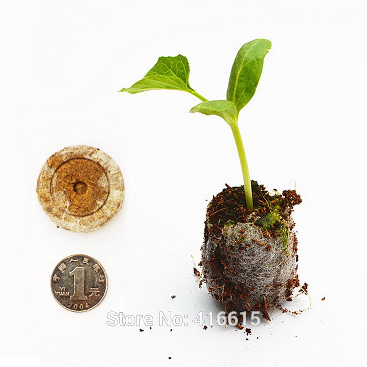 100Pcs Count 30mm Jiffy Peat Pellets Seed Starting Plugs Seeds Starter Pallet Nutrient Substance Medium Seedling Soil Block