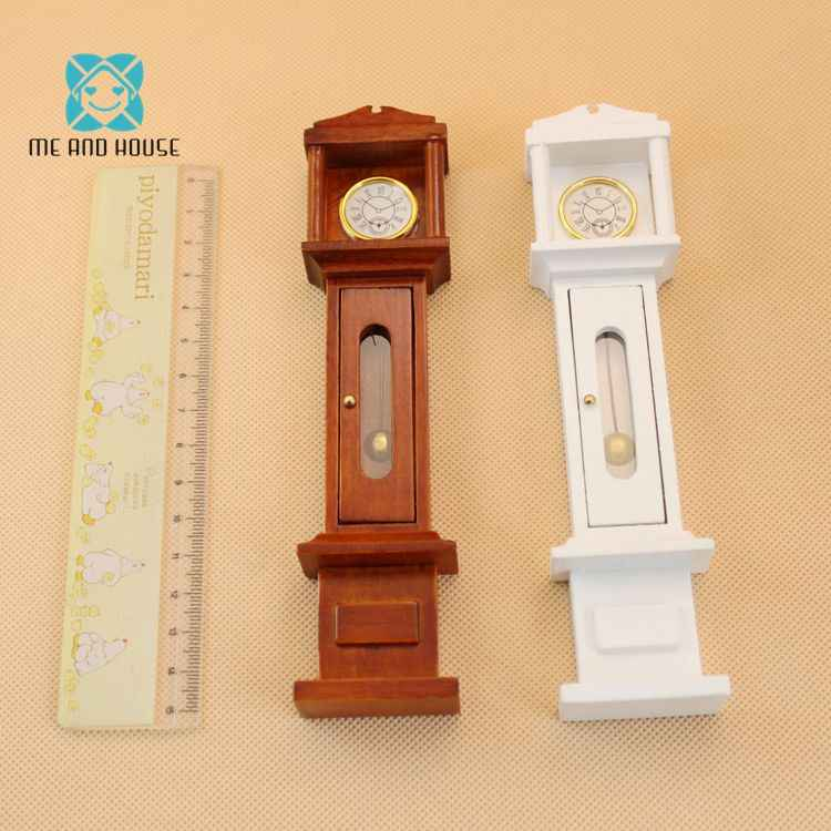 Dollhouse Clock Miniature Furniture Grandfather Clock Dolls Mini Handmade Furniture 1:12 Scale
