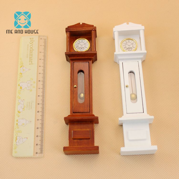 Dollhouse Clock Miniature Furniture Grandfather Clock Dolls Mini Handmade Furniture 1:12 Scale цена