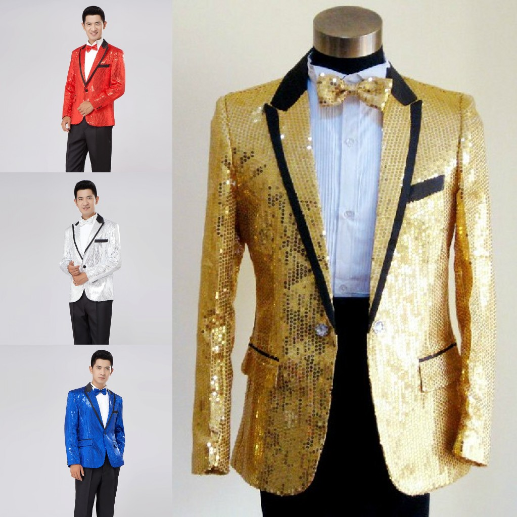 Jacket Sequins Stage Prom