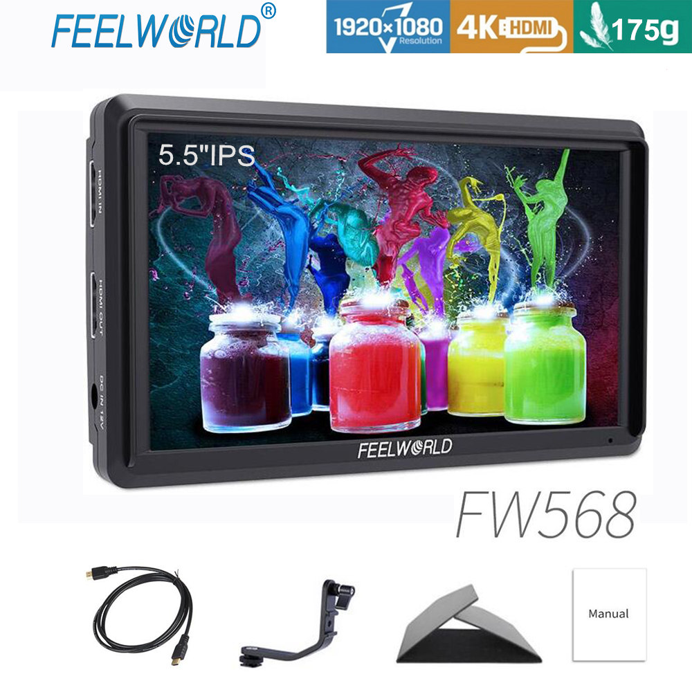 FEELWORLD FW568 5 5 Inch IPS 4K On Camera Field Monitor for DSLR HDMI Small Full