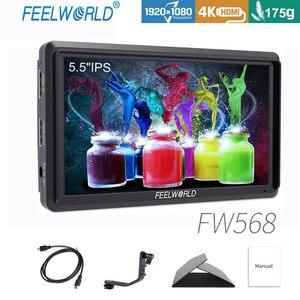 Image 1 - Feel world FW568 5.5 بوصة IPS 4K على كاميرا جهاز المراقبة الميدانية ل DSLR HDMI صغير كامل HD 1920x1080 الفيديو التركيز مساعدة مع الذراع الميل