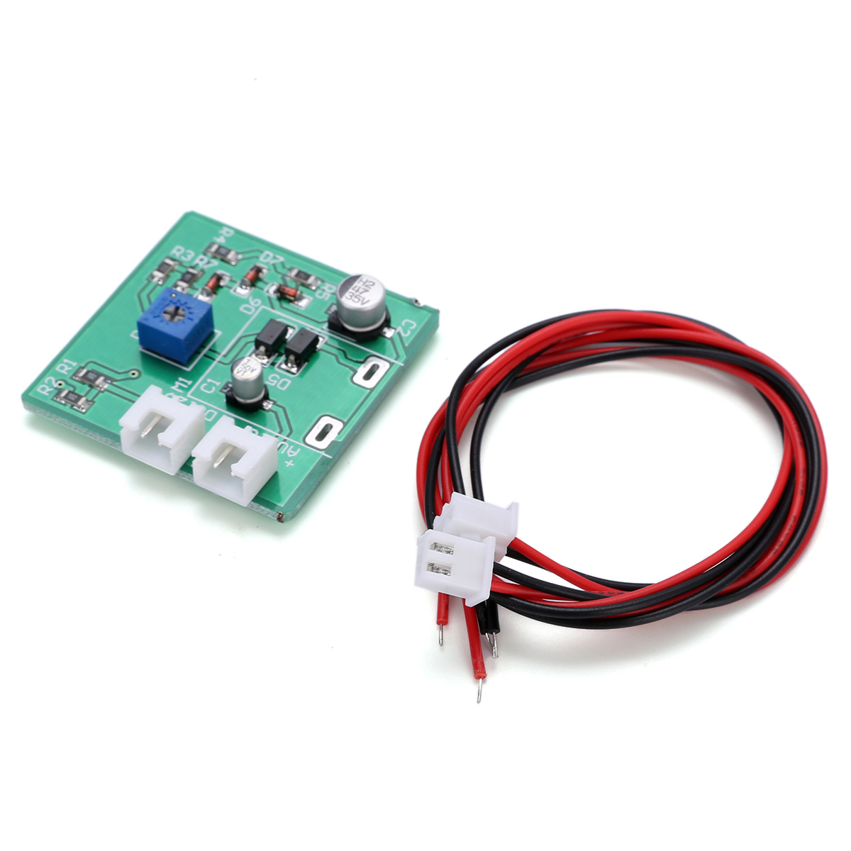 1pc/set  Durable 6-12V Analog Panel VU Meter Audio Level Meter Blue Backlight No Need Driver with 2 cables for power amplifier