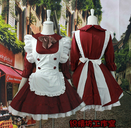 Date dessin animé japonais Lolita pucelle Cosplay Costume Housewife Casual robes femmes parti spécial robe robes