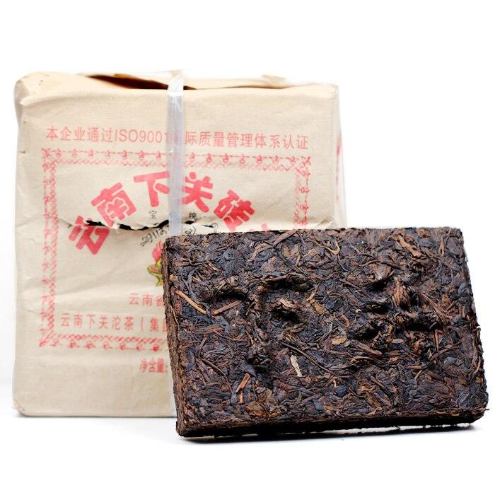 [GRANDNESS] 2006 yr Xia Guan Flame Tibetan Puer Xiaguan Brick Raw 250g XiaGuan Tuocha Group Old Pu er