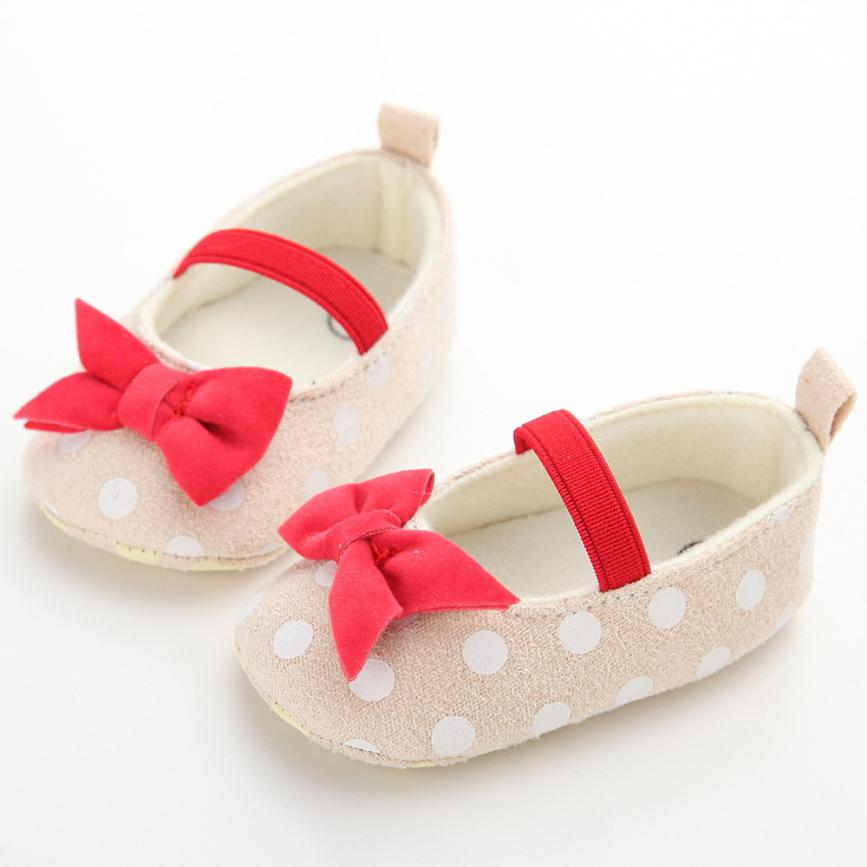 Baby Boy Girl Baby Moccasins Moccs Shoes Soft Soled Dot Butterfly Anti-Slip Soft Toddler Shoes Princess Shoes 17Dec27