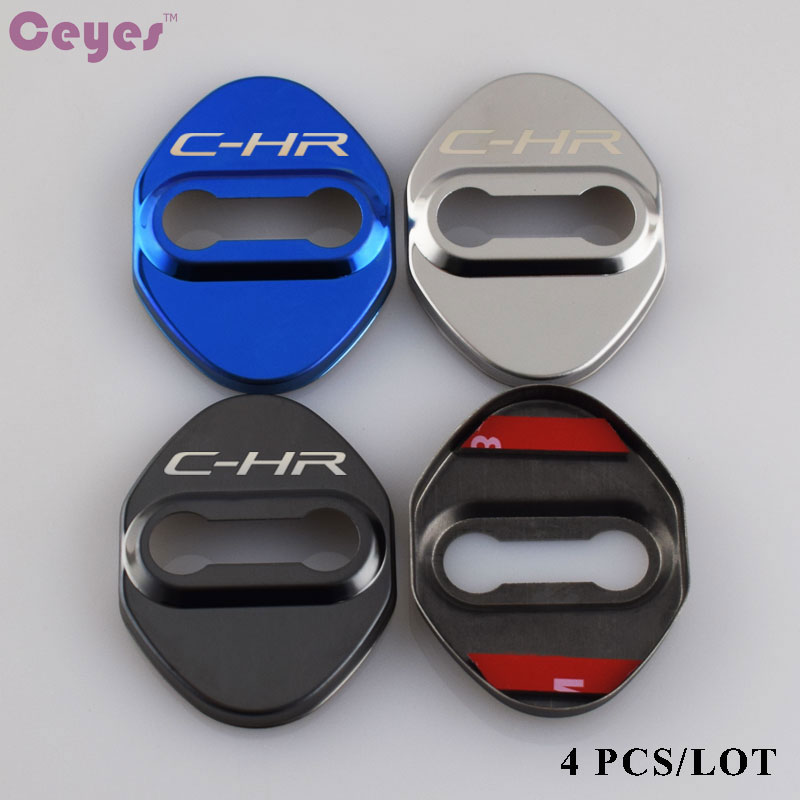 Ceyes Car Door Lock Cover Excellent Auto Car Styling Case For Toyota CHR Corolla Avensis C-HR 2016 2017 Camry Hilux Car-Styling cool color gradient car body garland car waistline styling sticker for toyota corolla avensis and so on
