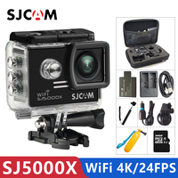 Оригинальный SJCAM SJ5000X Elite гироскоп Спорт Действие Камера Wi Fi 4 K 24fps 2 K 30fps Дайвинг 30 M Водонепроницаемый NTK96660 SJ CAM 5000 автомобилей DV
