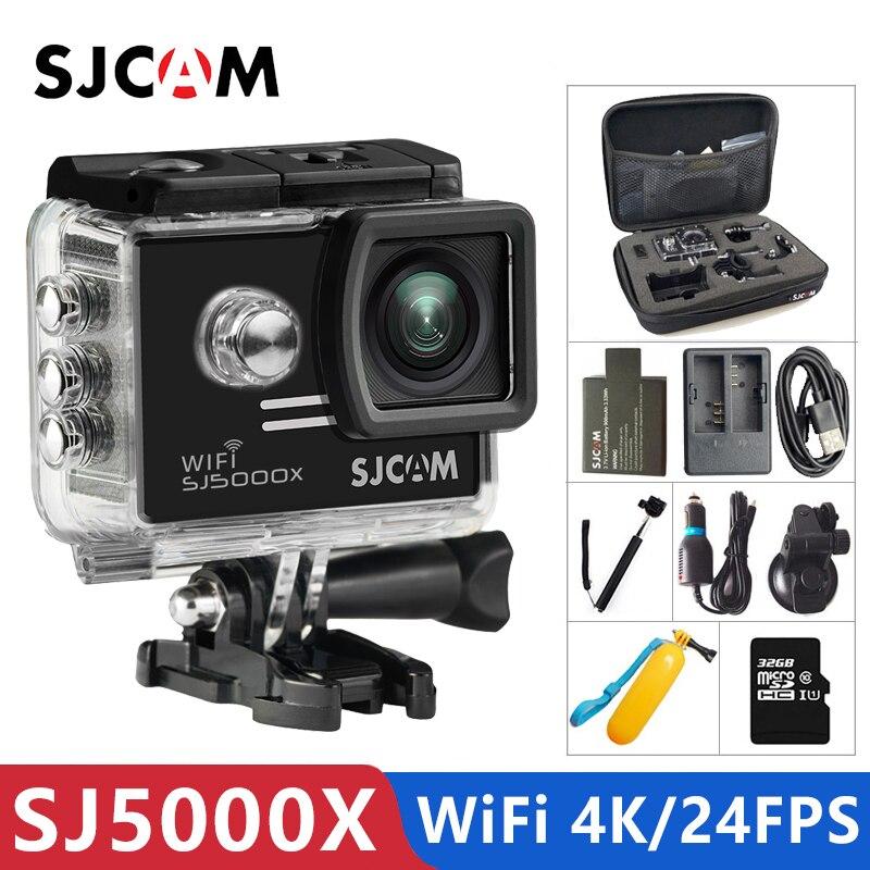 Original SJCAM SJ5000X Elite Gyro Sport caméra d'action WiFi 4 K 24fps 2 K 30fps plongée 30 M étanche NTK96660 SJ CAM 5000 voiture DV