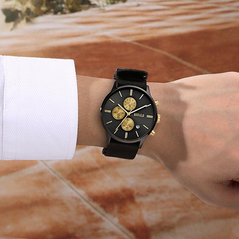 BAOGELA Chronograph Männer Uhren Mode Leinwand Military Uhr Für Männer Männlichen Quarz Armbanduhren Relogio Masculino
