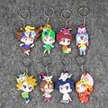 8 unids/lote Digimon Digimon Adventure Niños Juguetes Llavero PVC Llavero Colgante Animal de Juguete 7-8.2 cm