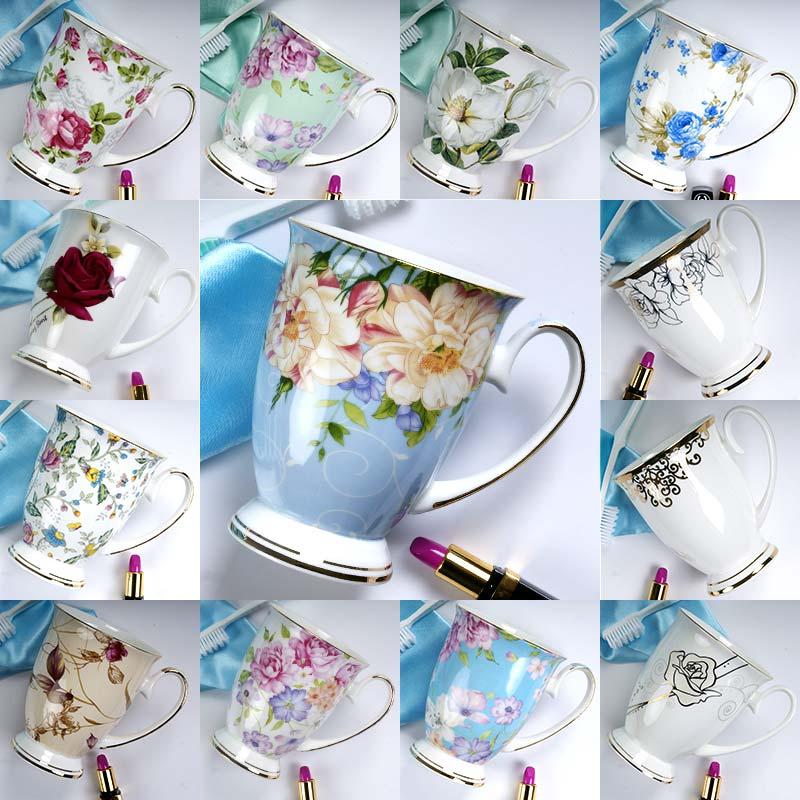 Высококачественные фарфоровые кофейные чашки, костяные фарфоровые кофейные кружки, блюдца, Европейский стиль, послеобеденный чай, черный чай, керамические чашки|Кружки| | АлиЭкспресс
