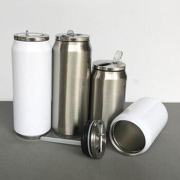 In bianco di Sublimazione 280 ml/500 ml Coca Cola thermos Bottiglia Tazza di Trasferimento Prtinting da INCHIOSTRO di Sublimazione FAI DA TE Trasferimento di Calore Presse stampa