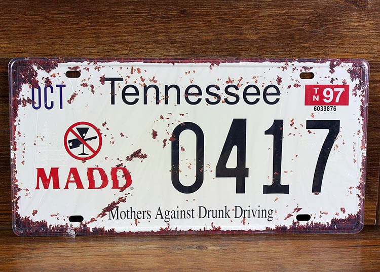 SP-CP-0187 Car License Plates number About  Tennessee 0417  Retro Vintage Metal tin signs Wall art craft painting 15x30cm