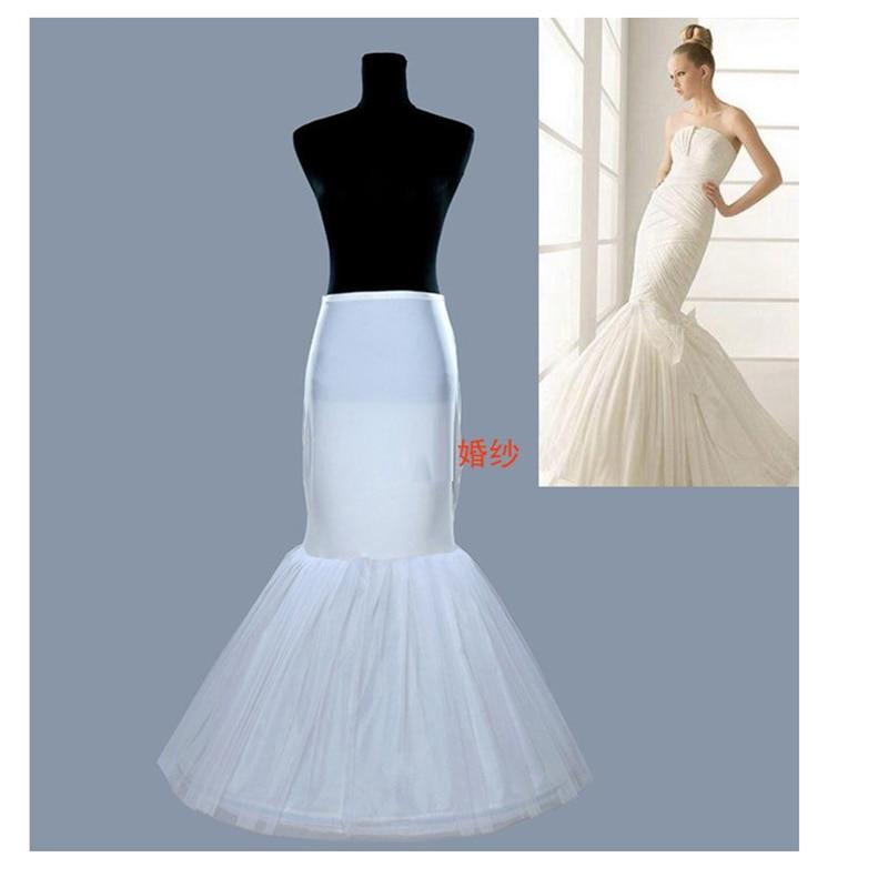 Wholesale Mermaid Wedding Petticoat Bridal Accessories Underskirt Crinoline White Balck Petticoat