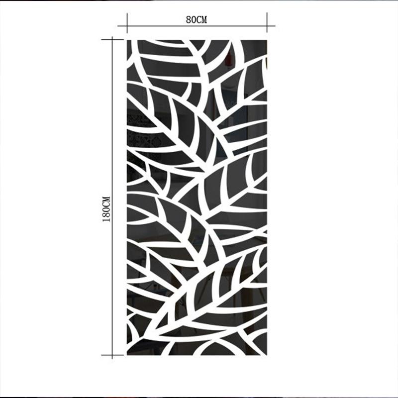3D Acryl Spiegel Decoratieve Muur Sticker Plant Patroon Spiegel Muursticker Home Woonkamer Muur Kamer Mode Groene Decoratie - 3