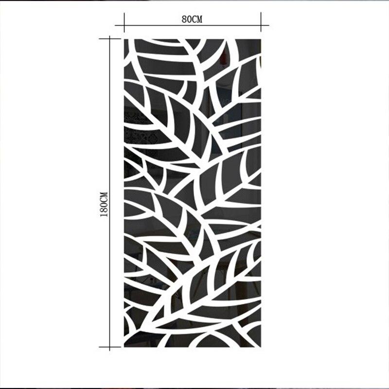 3d acrílico espelho decorativo adesivo de parede planta padrão espelho adesivo de parede casa sala de estar moda verde decoração - 3