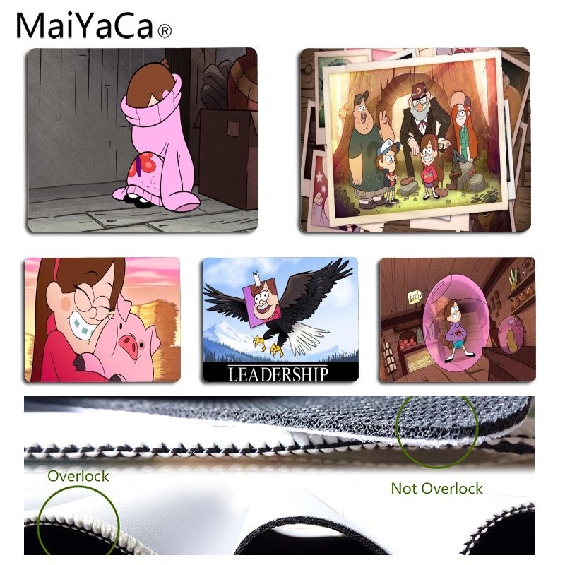 MaiYaCa Vintage Cool Gravity Falls Office Mice Gamer Soft Mouse Pad Size for 18x22cm 25x29cm Rubber Rectangle Mousemats