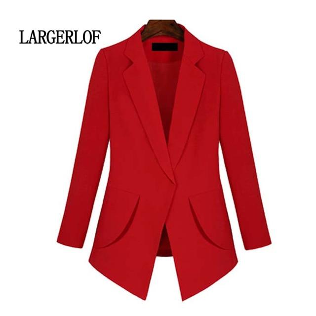 LARGERLOF Blazer Women Plus Size Suit Jacket Female Office Lady Autumn Spring Red Blazer Women's Blazers And Jackets BR55001