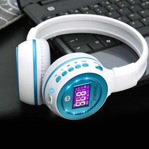 Image 2 - 盲信者 B570 ステレオ Bluetooth ヘッドフォンワイヤレスイヤホン液晶画面 FM ラジオ TF カード MP3 再生とマイク