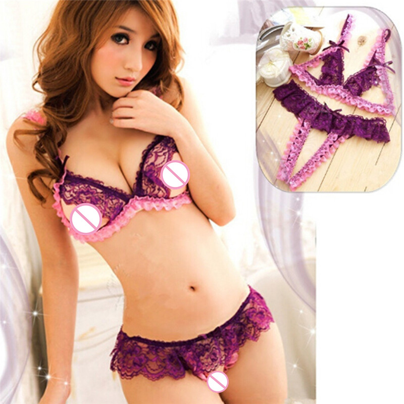 sexy Lingerie women's Sexy Body Lenceria Erotica Teddy Lingerie Bra Women's Underwear Thong Panties