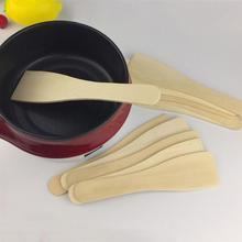 6 шт. деревянная лопатка прочная термостойкая маленькая кухонная утварь с антипригарным покрытием кухонная Лопатка деревянная лопатка для домашнего ресторана
