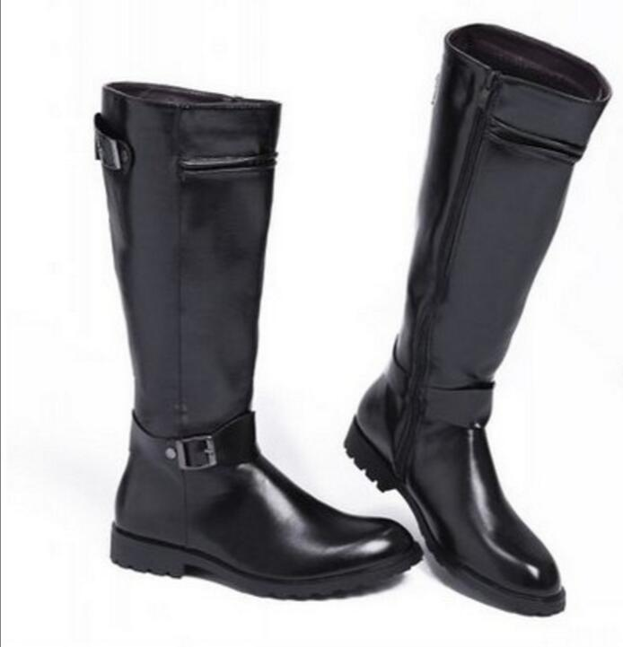 2018 genuine Leather Martin Boots Fur Martin High Top Casual Shoes Men Male Boots over the knee Botas Brand Motorcycle Boots 2017 genuine leather martin boots fur martin high top casual shoes men boots over the knee botas brand motorcycle boots