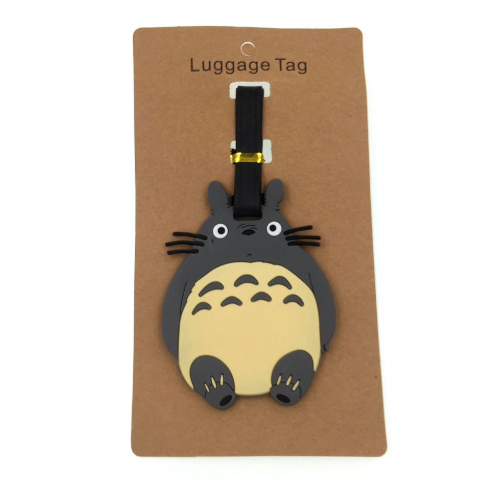 Cartoon Totoro Luggage Tag Travel Accessories Silica Gel Suitcase ID Address Holder Baggage Boarding Tag Portable Women Label