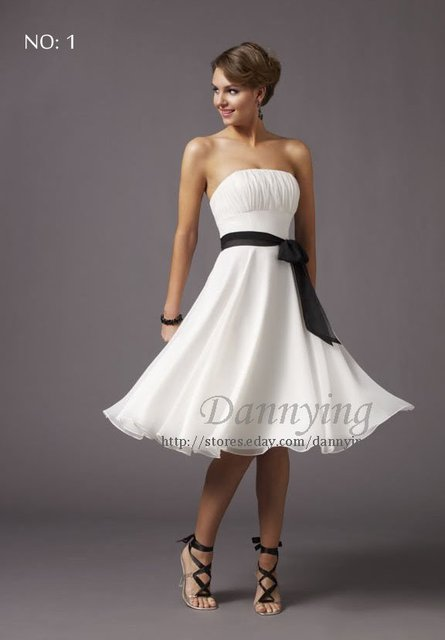 LF8002 Free short  Womens prom gown Party Cocktail Dress/Evening Dress White US Size:0,2,4,6