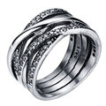 WAYA Silver Rings Finger Round With Cubic Zircon For Women Ring Wedding Party Birthday Gift Elegant Fashion Jewelry