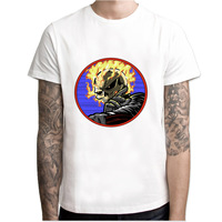 Ghost Rider print casual tshirt mens o-neck t shirts fashion men's tops men T-shirt short sleeve men M7R1366