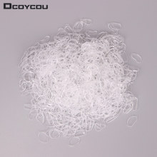 1000pcs Hair Accessories Mini Braid Plaits Elastic Tie Band Ponytail Holder Elastic Rubber Clear White Accessories Girl(China)