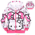 Meninos inverno Jaquetas Com Capuz Casaco casacos de Homem Aranha para crianças Roupas Gatinho das Crianças Moletom Com Capuz Crianças dos desenhos animados do bebê outerwear