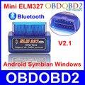 Супер Мини ELM327 Bluetooth V2.1 OBD2 OBDII ELM 327 Беспроводной Авто Диагностический Инструмент На Android Ос Windows С 12 Видов Языков
