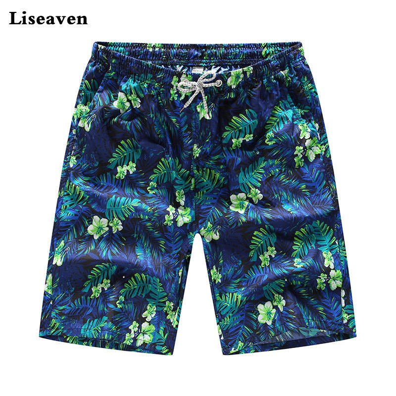 Liseaven   Board     Shorts   Men Clothing Quick Dry Boardshorts Summer Male Beach Casual   Shorts