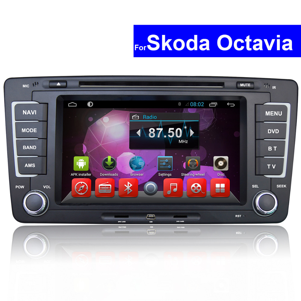 2 din touch screen car stereo with gps for skoda octavia. Black Bedroom Furniture Sets. Home Design Ideas