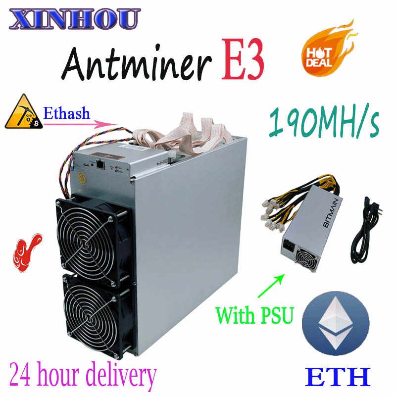 ETH и т. д. Майнер Antminer E3 190MH/S Ethash с BITMAIN PSU Asic шахтер лучше, чем S9 S11 B7 Z11 S15 Innosilicon A9 T3 m3 M10 D1