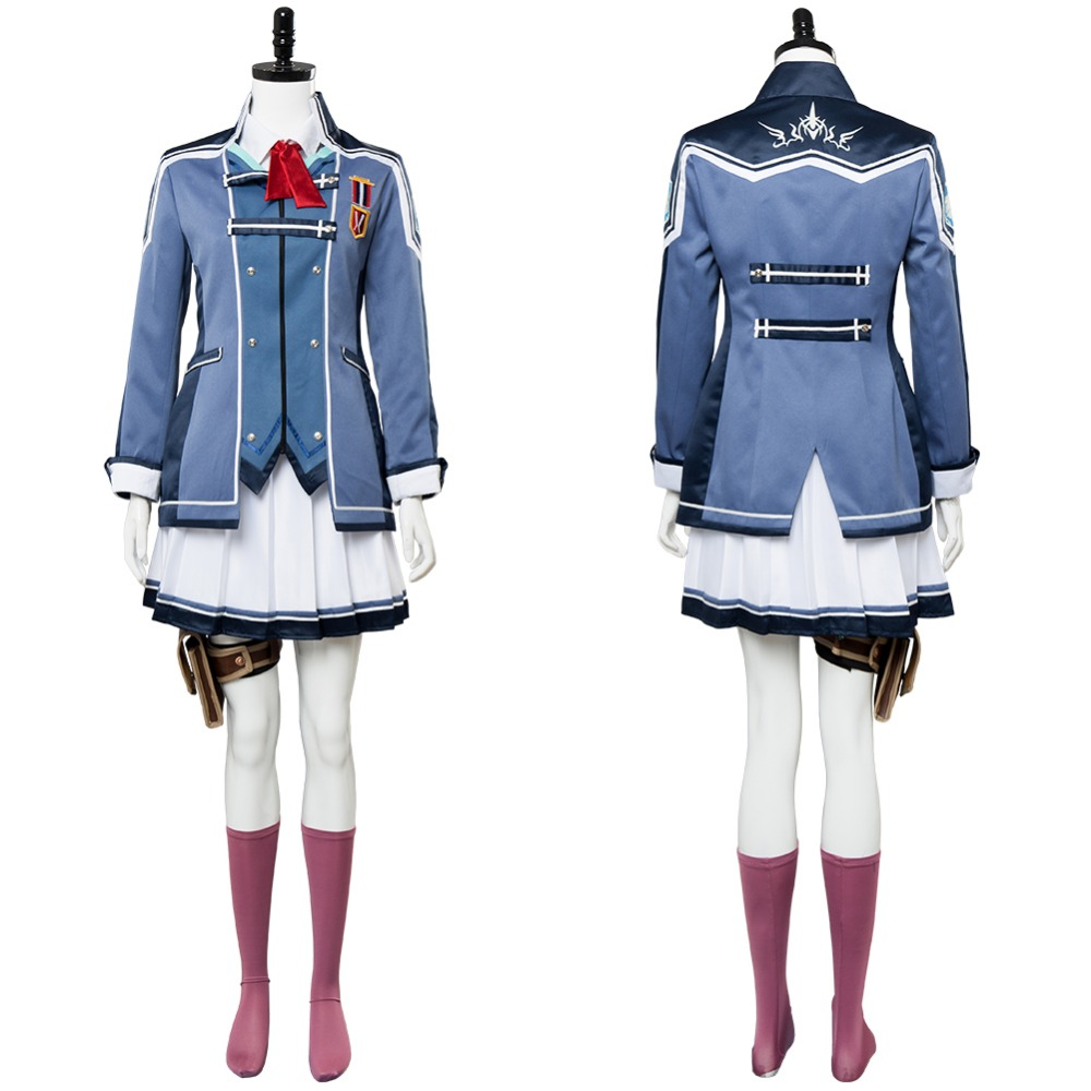 The Legend of Heroes: Trails of Cold Steel Una Crawford Cosplay Costume Adult Women Dress Uniform Halloween Carnival Costume