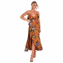 New hot summer North American fashion personality tribal style loose wide leg high waist sexy print Slim female dress