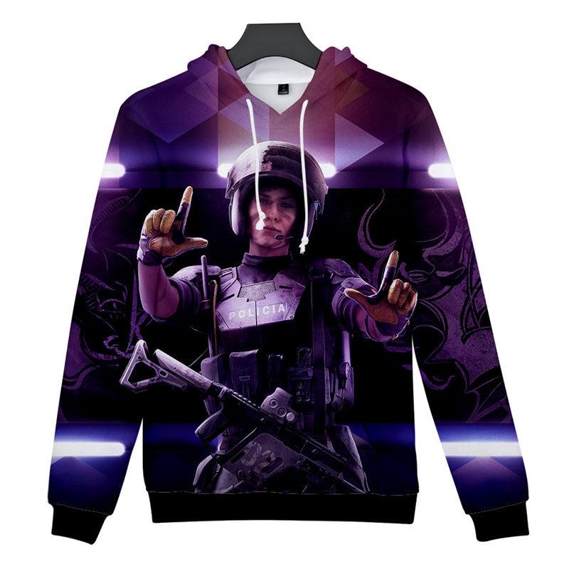 2019 New Hot 3D Print Rainbow Six Siege Hot Hoodie Sweatshirt Electronic Game Jacket Hoodie Spring/Autumn Casual Wear Clothing-in Hoodies ...