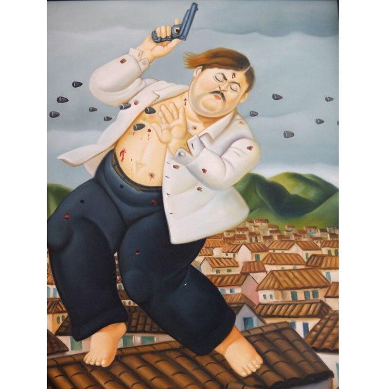 Handmade Fernando Botero fett frau ölgemälde kunst auf leinwand wand für wohnzimmer art Home Dekoration - 4