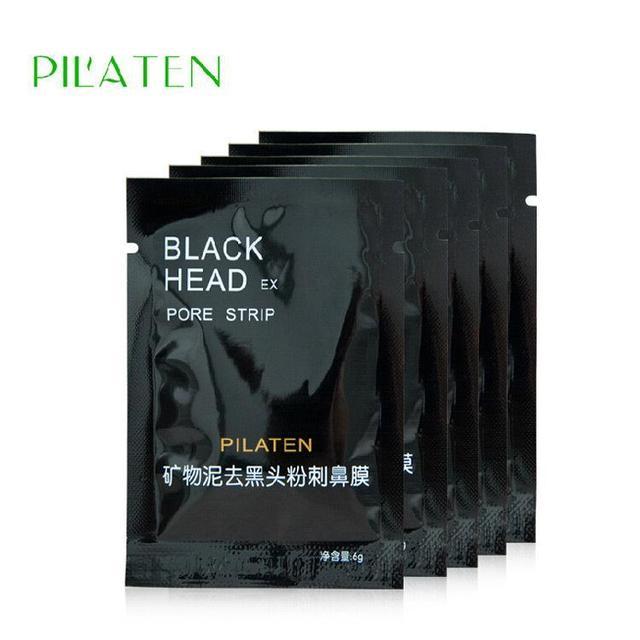 100pcs PILATEN Face Care Facial Minerals Conk Nose Blackhead Remover Mask Cleanser ,Deep Cleansing Black Head EX Pore Strip