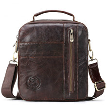 IMIDO genuine leather men fashion messenger bag multifunction shoulder cross body