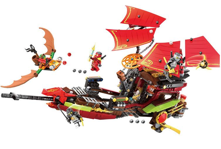 купить Bozhi 125 Block 879Pcs Ninja Building Blocks Final Fight of Destiny's Bounty Blocks Kids Bricks Toys Compatible 10402 70738 недорого