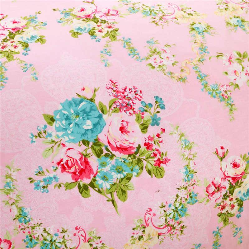 В Корейском стиле с цветочным принтом, простыни для девочек с принтом пиона, комплекты постельного белья с цветами розового цвета, покрывало из 100% хлопка