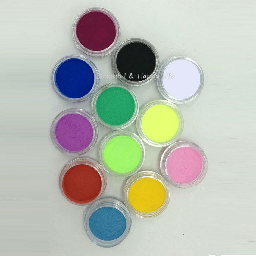 12 Colors Sequins Dust Glitter Powder UV Gel Polish
