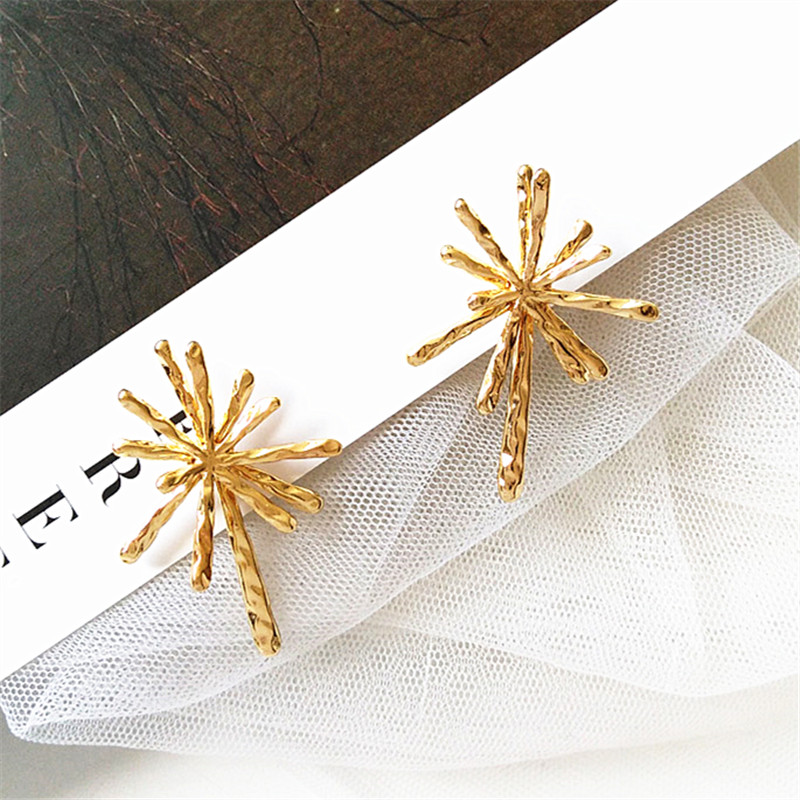 Fashion Double Loop  Earrings For Women Long Wave High Quality Statement Wedding Jewelry Wholesale