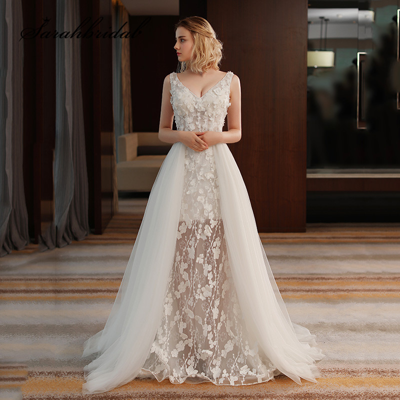 Modern Luxury Wedding Dress 2019 Tulle Sweety Handmade