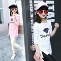 2017 Lovely Baby Niños Chicas Primavera Camisetas de Algodón Niñas Niños Ropa Enfant Fille Tops Ropa para Niños Camisetas Para Chicas Camisetas